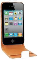 Swiss Charger Flip Case / Cover van wit PU leer voor Apple iPhone 4 / 4S - AKTIE: nu met GRATIS Screen Protectors