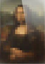 Mona Lisa | Pixel Art | Leonardo da Vinci | Foto op plexiglas | Wanddecoratie | 100CM x 150CM | Schilderij