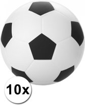 10 stressballetjes voetbal 6 cm