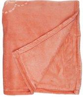 Unique Living Bloem - Fleece - Plaid - 130x160 cm - Peach