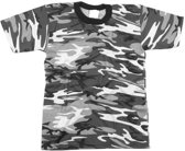 Grijs camouflage t-shirt korte mouw 2XL
