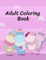 Adult Coloring Book: Easy and Funny Animal Images for Relaxation and Relieve stress