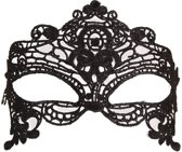 Partyxplosion - Oogmasker - zwart - lace