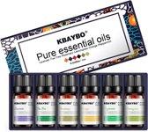 KBAYO Essentiële Oliën - Set 6 flesjes