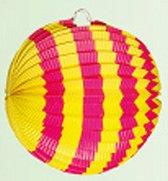 Lampion geel/roze 24 cm
