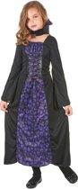 Paarse doodskoppen vampier outfit voor meisjes - Verkleedkleding
