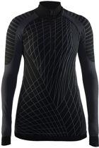Craft Active Intensity Zip W 1905334 - Sportshirt - Black/Granite - Dames - Maat XS