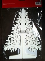 Dobbies Christmas 25cm Cut Out Tree Wit