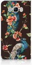 Samsung Galaxy J7 2016 Standcase Hoesje Design Pauw met Bloemen