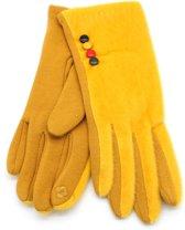Fluffy Handschoenen - Dames - Geel - Dielay