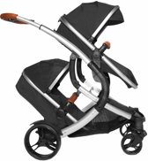 Tweeling kinderwagen X-adventure Go4 Two in One Zwart