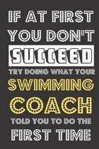 If At First You Don't Succeed Try Doing What Your Swimming Coach Told You To Do The First Time