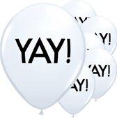 Ballonnen Yay! - 6 stuks