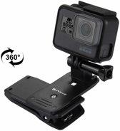 PULUZ 360 graden roterende rugzakhoed Rec-mounts Quick Release-klembeugel voor GoPro