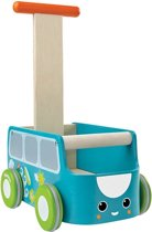 Plan Toys houten loopwagen Van Walker - Blue 5186