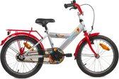 Bike Fun Space - Fiets - Jongens - Zilver;Rood - 18 Inch