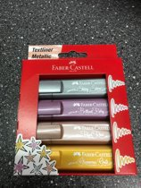 Faber-Castell Textliner Metallic Marker Set