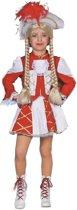 Dansmarietje rood - wit Gardedans meisje Maat 116