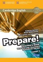Cambridge English Prepare! 1 teacher's book + dvd + online resources