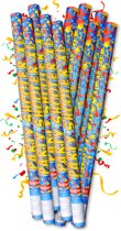 12 STUKS Party confetti shooters - Partyshooter - shooter 100 cm / 1 meter - professioneel voorzien van CO2 patroon – party popper confetti kanon