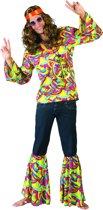 Hippie Kostuum | Hans De Hippie | Man | Maat 48-50 | Carnaval kostuum | Verkleedkleding