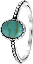 Lucardi - Zilveren ring turquoise Bali