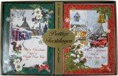 Kerstkaarten met nieuwjaars wens winterlandschap (5x10) 50 kaarten