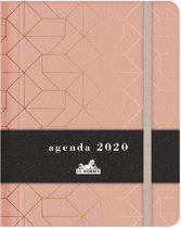 Hobbit agenda organizer medium D2 zalm lederlook jaaragenda 2020 met een verborgen spiraal (formaat