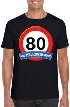 80 jaar and still looking good t-shirt zwart - heren - verjaardag shirts L