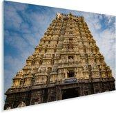 Tempel in Chennai vanaf onderen Plexiglas 60x40 cm - Foto print op Glas (Plexiglas wanddecoratie)