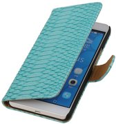 Huawei Honor 6 Plus Turquoise   Snake bookstyle / book case/ wallet case Hoes    WN™