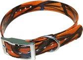 Halsband BioThane Camouflage - ORANJE - 600mmX25mm - dubbele gesp