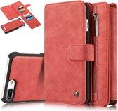 Caseme Leren Flip Wallet iPhone 7/8 plus - Rood