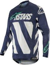 Alpinestars Crossshirt Racer Braap Cool Gray/Dark Navy/Teal-S