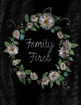 Family First;chalkboard Pretty Floral Journal/Notebook/Gift for Women/Girls