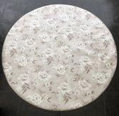 Palace Fashion Tafelzeil - Rond 160 cm - Flowers - White Brown