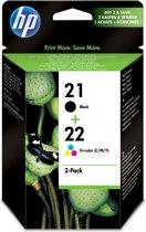 HP 21 / 22 - Inktcartridge / Zwart / Kleur / 2-pack