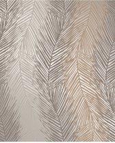 Essence Leaf Wave grijs/bruin behang (vliesbehang, bruin)