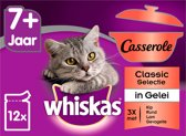 Whiskas 7+ Senior Casserole Multipack Maaltijdzakjes - Classic in Gelei - Kattenvoer - 48 x 85 g