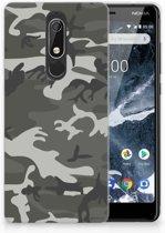 Nokia 5.1 (2018) Uniek TPU Hoesje Army Light