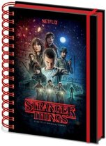 Hole In The Wall Stranger Things One Sheet - A5 Notitieboek