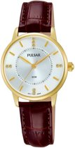 Pulsar PH8182X1 horloge dames - bruin - edelstaal doubl�