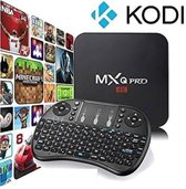 Android 6.0 tv box MXQ PRO 4K Ultra HD + Kodi 17.4 + GRATIS Rii I8 Zwart Wireless keyboard