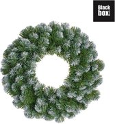 Black Box Trees - Norton krans frosted, groen -  d45cm