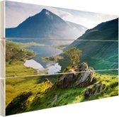 Landschap in Wales Hout 120x80 cm - Foto print op Hout (Wanddecoratie)