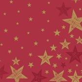 Kerst Servetten Shining Star Red - 20 stuks - wegwerpservetten