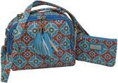Jessidress Meiden Handtasje met Portemonnee van Mozaïeken Dames Tas - Aqua