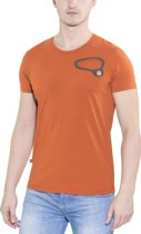 E9 Big Ball t-shirt Heren bruin Maat XL