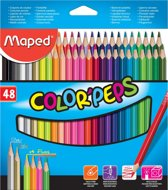 4x Maped kleurpotlood Color'Peps 48 potloden