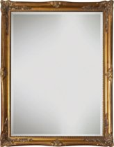 Qweens - Spiegel - Yana- antiek goud - buitenmaten breed 81 cm x hoog 111 cm.